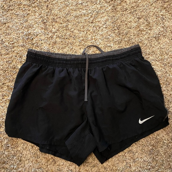 Black/Gray Nike Running Shorts